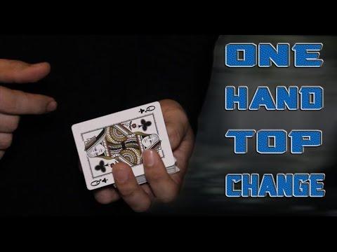 Free card magic - One Hand Top Change Tutorial