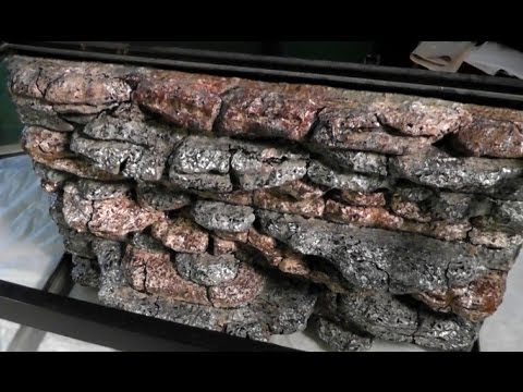 Rock Wall Background Tutorial For Lizard Cage Slate Rock