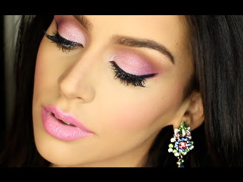 All Pink Valentine S Day Makeup Tutorial Youtube