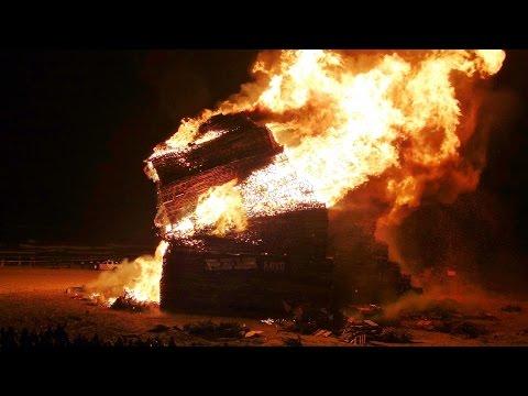 Vreugdevuur duindorp brand ,de finale einde 2014/2015