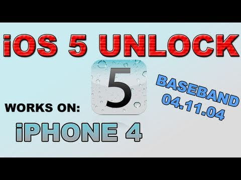 [Updated! iOS 5 Final + iOS 5.0.1] HOW TO UNLOCK iOS 5 (iPhone 4) [PC & MAC]