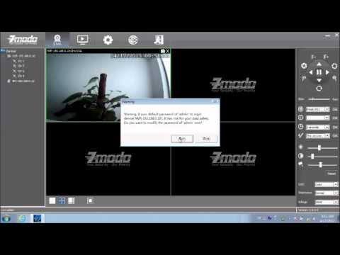 access ip camera via zviewer pc client software youtube