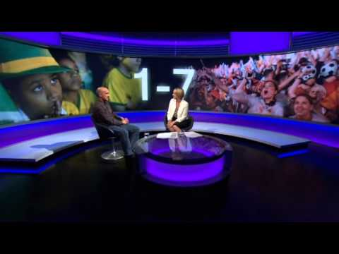 Brazil 1 Germany 7 BBC Newsnight 2014