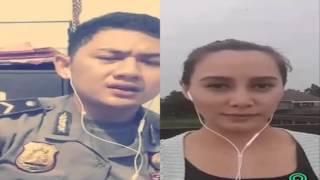 Heboh, Polisi Ganteng dan Polwan Cantik Suara Bagus Cover Lagu On Smule Sing Karaoke App