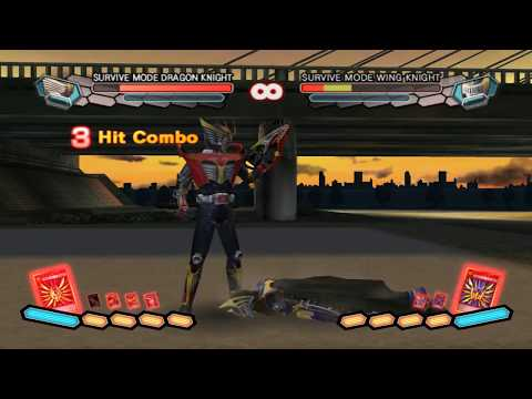 Kamen Rider: Dragon Knight Wii | Survive Mode VS Xaviax.