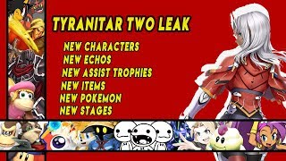 NEW LEAK   NEW CHARACTERS   NEW ECHOS   NEW STAGES   NEW ASSIST TROPHIES   NEW POKEMON   AND MORE!