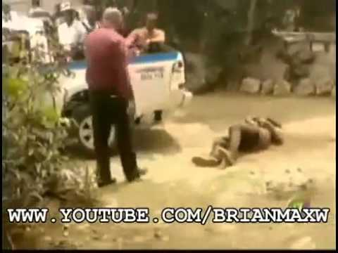 Jamaican Police Caught On Camera Shoot A Man