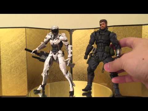 Revoltech #140 EX Raiden White Armor ver. Unboxing review & comparison