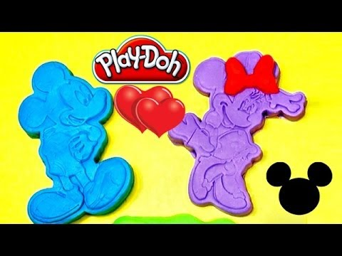 Play Doh Minnie Mouse and Mickey Mouse Stamp Set Mickey Mouse Playdough Hasbro T