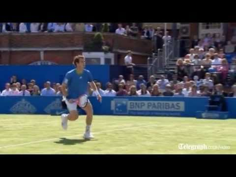 Andy Murray s amazing trick-shot in final of Aegon Championship at Queen s