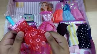 Barbie toys with dresses for kids