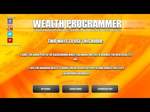 'Wealth Programmer' ┊ Attract Wealth and Abundance Easily┊Wealth Affirmations ┊Binaural Beats