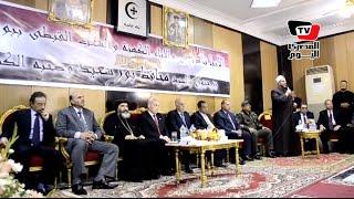 محافظ بورسعيد وممثل عن الجيش يقدمان التهاني بعيد القيامة المجيد