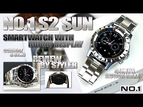 "NO.1 SUN S2 Metal Smartwatch, 1.22"" Round Display, MTK6260, Heart Rate Monitor, 350mA Battery"