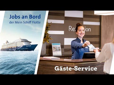 Mein Schiff - Jobs bei sea chefs im Gäste Service Team (Rezeption) an Bord