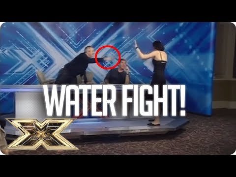 LOUIS WALSH THROWS WATER ON CONTESTANT! | The X Factor UK Unforgettable Audition