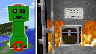 CREEPER HUIS EN HEROBRINE IS VRIJ! (Notch Survival #53)