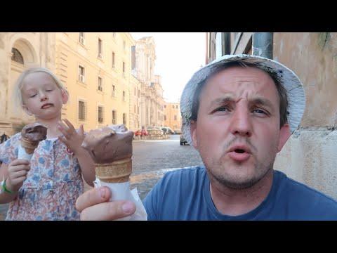ICE CREAM IN ROME - carnival vista cruise - vlog25