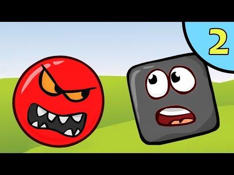 Несносный КРАСНЫЙ ШАР против чёрного квадрата #2. Мультик ИГРА для детей Red Ball 4 на Игрули TV