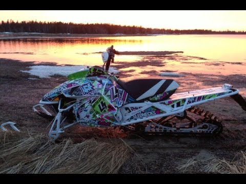 2013 Arctic Cat 800 High Country - water skipping on river