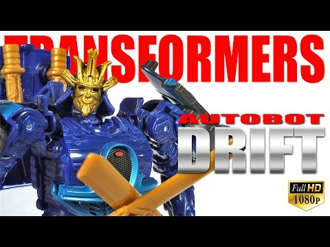 Transformers Age Of Extinction 4 Autobot Drift movie deluxe class figure review thumbnail