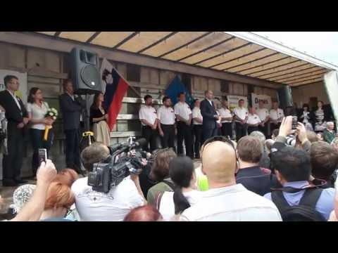 Janez Janša pred vstop v zapor - Nisem krv!