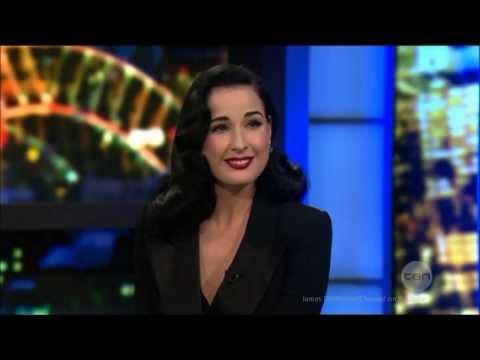Dita Von Teese Australian Tv Interview & the Art of Burlesque Star 4-11-2013 #DitaVonTeese