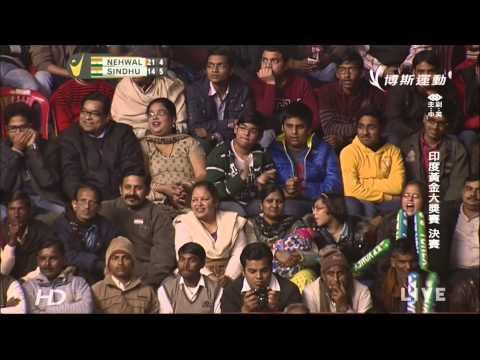 2014India Grand Prix Gold Final WS Saina Nehwal[IND] vs Sindhu P. V. [IND]