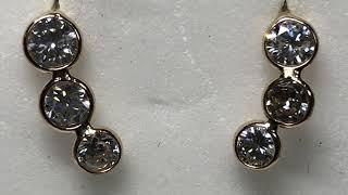 23. $4000. 14KT Gold Diamond(1ct) Earrings