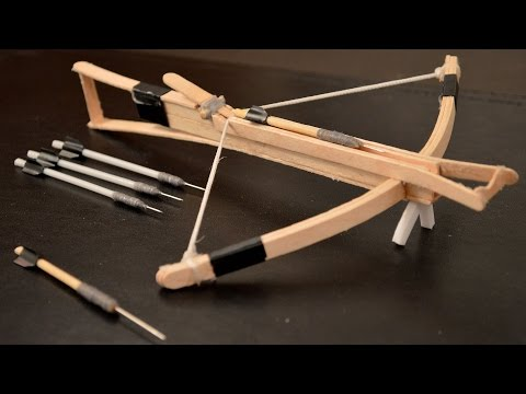 How to Make an Awesome Mini Toothpick CROSSBOW! 🏹