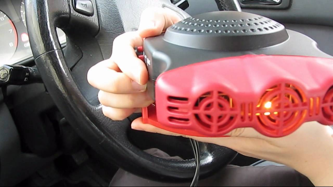 12 volt ceramic car fan heater - YouTube