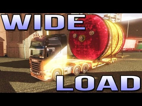 WIDE LOAD! (Euro Truck Simulator 2) ETS2 inc Track IR