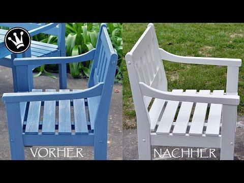 ❤-lichen DANK / How To: Gartenmöbel/Outdoormöbel Weiß Streichen /Vorbereitung Und Anstrichaufbau