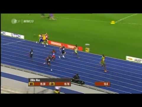 Мировые рекорды по лёгкой атлетике. Часть 1. Бег на 100, 200 и 400 метров. World athletic records.