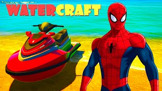 CARS SPIDERMAN Cartoon Water Jet EPIC FUN Water PARTY Superheroes Fun Video + Children Songs