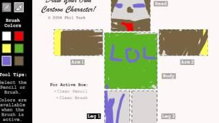 Нарисуй Свой Персонаж Игры