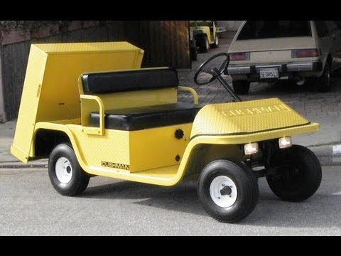 Cushman 898370 36 volt Electric Industrial Golf Cart Pickup/Utility Vehicle FOR SALE in Los Angeles