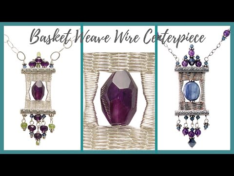 Basket Weave Wire Centerpiece Tutorial - Beaducation.com