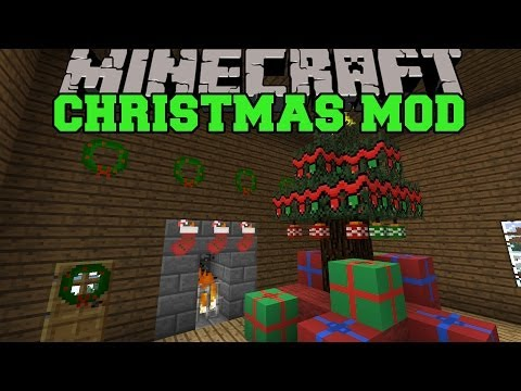 Minecraft: CHRISTMAS MOD (SANTA GIVES YOU PRESENTS. DECORATIONS AND FOOD) Wintercraft Mod Showcase