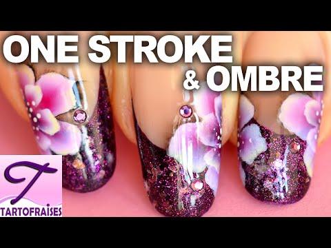 Tuto nail art fleur One Stroke, ombres et lumières sur french manucure