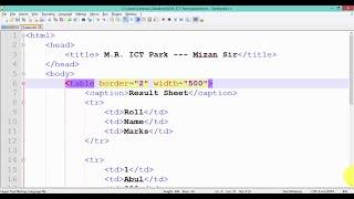HTML Table(Advance Level) - HSC - ICT Video Tutorial(Bangla) HTML(Web Design) Part-11