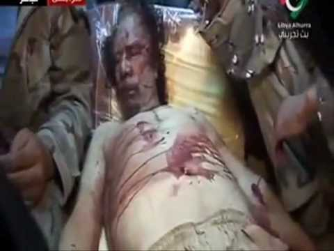Gaddafi death full video ا��ذا�� ا���ت ا��ا�� ا���د��
