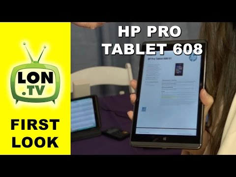 First Look: HP Pro Tablet 608 - Cherry Trail Windows 8 inch Tablet with 4:3 Screen