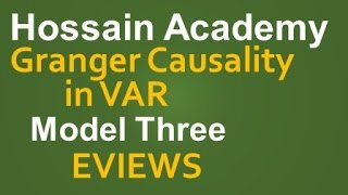 Granger Causality in VAR Model. Model Three. EVIEWS