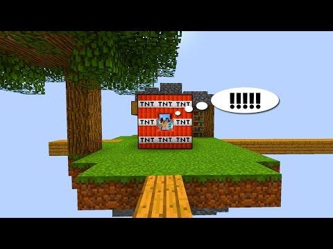 ЗАЧЕМ ЭТОТ ИГРОК ЗАКРЫЛСЯ ДИНАМИТОМ?! - (Minecraft Sky Wars)