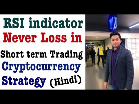 Best Bitcoin Cryptocurrency Trading strategy RSI indicator Hindi No loss in short term trading