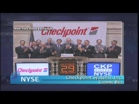 29 October 2009 NYSE Euronext Closing Bell Checkpoint Systems, Inc.