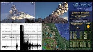 Monitoreo sísmico y volcánico (SASMEX, sismogramas, Popocatépetl y Colima) En vivo 17/may/2019 (HD)