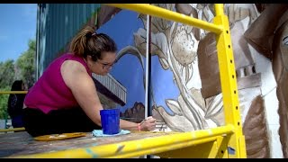 UC Davis Chicana/o Studies Class Paints Mural for Elementary School