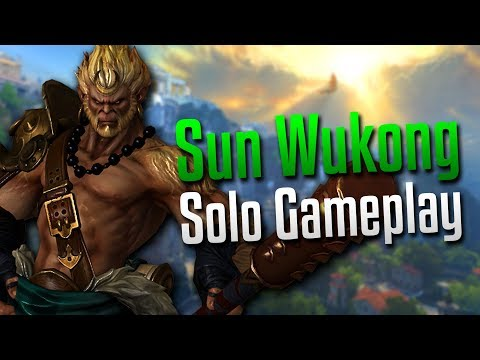 Smite: King of the Monkeys!- Sun Wukong Solo Gameplay